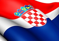Flag of Croatia. Close up.