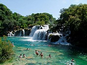 Waterfalls in Krka croatia