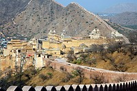 Amer Fort / Amber Fort, palace in red sandstone at Amer near Jaipur, Rajasthan, India