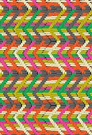 Colorful zig zag mosaic design