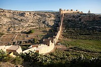 Citadel and aerial view of the wall, Almeria, Andalucia, Spain, Europe