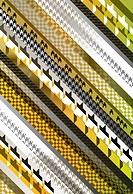 Stripes of different houndstooth design