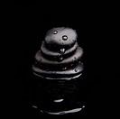 Spa Stones. shiny zen stones with water drops