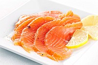 Salmon marinated