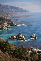 Rock Formations Along The Coast, Big Sur California United States Of America