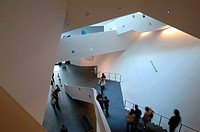 Extension to the Denver Art Museum, Frederic C. Hamilton Building, Denver, United States. Architect: Daniel Libeskind, 2006. View of main staircase.