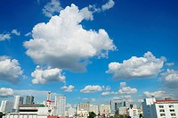 cloudy sky over Bangkok city, Thailand