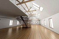 Architecture interior visualisation  3D rendered Illustration