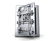 A open bank safe  3D rendered Illustration  Isolated on white