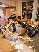 Trashed room inside of a foreclosed home in Fresno, California, United States