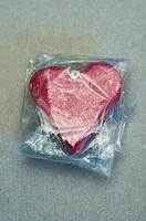 Heart wrapped in cellophane