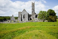 Quin Friary And Cemetery, County Clare Ireland