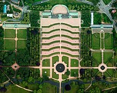 Sanssouci Castle with garden, Potsdam, Germany, aerial photo