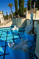 Hearst Castle A Mediterranean Style Mansion Atop A Hill Near San Simeon, California United States Of America