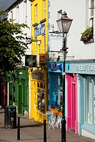 Colourful store fronts, westport county mayo ireland