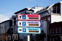 Signs for parking, cork city county cork ireland