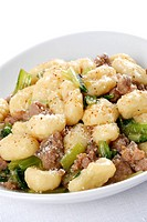 gnocchi with sausage and vegetables