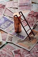 Coins, money, 50 Czech Crowns, finances, saving, investments CTK Photo/Josef Horazny