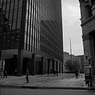 Views of One Charles centre office building in Baltimore, Maryland, designed by Mies van der Rohe and built as a reinforced concrete structure at 100 ...