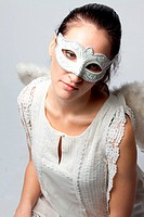 Angel in a white mask