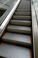Moving escalator in subway station