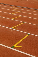 Running track in a sport center