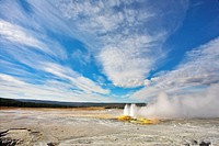 Geysers in Yellowstone Park