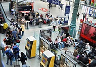 Paris, France- Gare du Nord Train Station, General Overview, People inside Lining up fo Eurostar Train