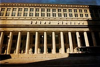 Union Station,art deco style building in Chicago Illinois USA