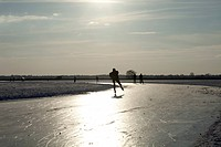 Skating on natural ice in the Netherlands
