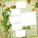 grunge paper for congratulation with bunch of clover