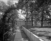 Exterior and interior views of the architect Harry Weese´s residence and studio in Barrington . Includes exterior views of a two_story house, separate...