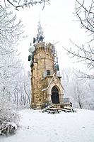 Die Habsburgwarte befindet sich auf dem 542 m hohen Hermannskogel in Wien. Sie ist 27 Meter hoch und hat die Form eines mittelalterlichen Wehrturms. F...