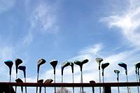 Golf Clubs at Practice Range