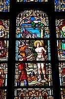 France, stained glass window of Batz sur Mer church