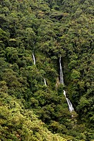 Peru, Manu National Park, waterfall