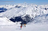 Im Skigebiet Trois Vallées, Haute_Savoie Frankreich / In the skiing area Trois Vallées, Haute_Savoie France