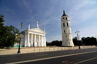 Lithuania, Vilnius, Belfry, St. Stanislas Cathedral