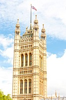 Victoria Tower, Westminster Palace, London, Great Britain