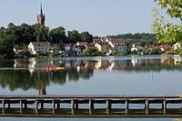 Haussee, Feldberg, Feldberger Seenlandschaft, Mecklenburgische Seenplatte district, Mecklenburg_Vorpommern, Germany / Haussee, Feldberg, Feldberger Se...