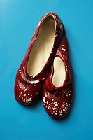 Red ceramic slippers