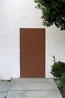 A plain brown door