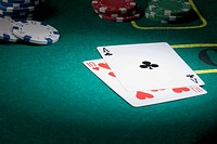 A blackjack hand displaying twenty_one