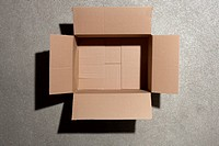 Open cardboard box