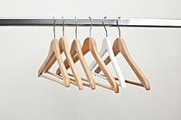 Row of coat hangers
