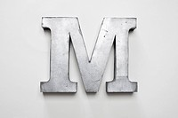 Metal letter M