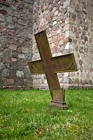 Broken church cross