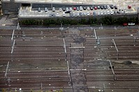Railway lines and car park