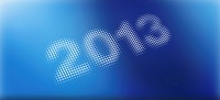 2013 on a blue abstract background