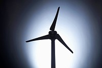 A model of a wind turbine, close_up